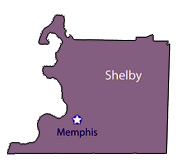 Memphis Shelby County Map